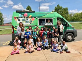 Fidelity Sweets and Treats van visits Pittston Area Primary Center