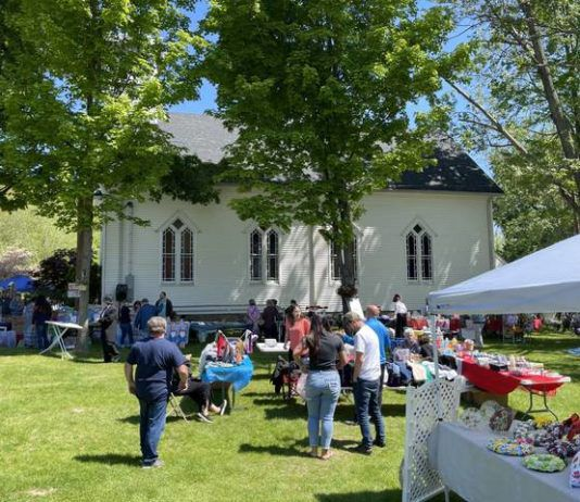 A large crowd turned out for Saturday's Belfry Bazaar in support of the restoration project at Slocum Chapel in Exeter.                                  Bill O'Boyle | Times Leader
