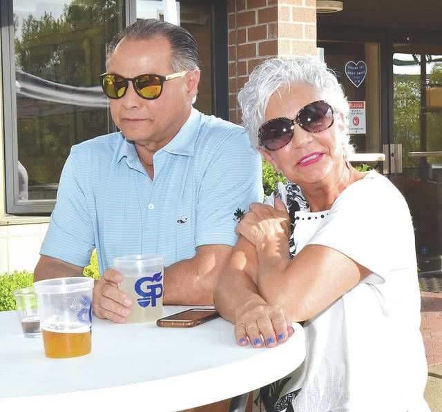 <p>Lee and Deb Monteforte stopped by the Greater Pittston Chamber of Commerce for a slice of pizza and a beverage on Friday, May 12.</p>                                  <p>Tony Callaio | For Sunday Dispatch</p>