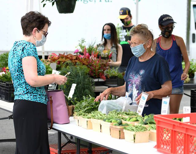 <p>Audrey Golomb, right, of Golomb's Farm & Greenhouse, will be back this summer for the Downtown Pittston Farmer's Market, along with other vendors such as Brace's Orchard and many more located at the Pittston Tomato Festival lower lot.</p>                                  <p>Sunday Dispatch file photo</p>