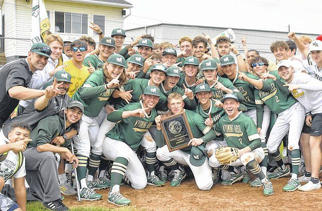 <p>District II AAAA champions Wyoming Area Warriors pose for a victory shot moments after shutting out Honesdale 11-0 in a 10-run rule shortened game. The Warriors now move on to the state playoffs.</p>                                  <p>Tony Callaio | For Times Leader</p>