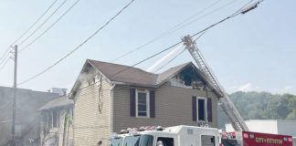 A look at the extent of the damage after the fire was knocked down.                                  Kevin Carroll   Times Leader