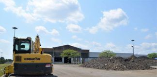 Work is underway to convert the former Oak Street Walmart in Pittston Township into an $80 million Geisinger outpatient facility called Healthplex Centerpoint.                                  Mark Guydish   Times Leader