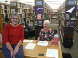 Friends of the Osterhout Free Library Irene Martin and Diane Krokos are two of the volunteers helping prepare for the 44th annual book sale, which will be held indoors in the reading room Monday through Saturday. (Enter through the back of the library.)                                  Mary Therese Biebel   Times Leader