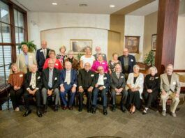 Shown in the class photo are, from left, first row: Jean Gatti Ragantesi, Paul Dominick, Girard Charney, Michael Clark, the Rev. Louis Grippe, William Falzone, Ted Marmo, Lucille Petrucci Trotta, Norine Drury Gill, Joseph McHale. Second row: Ed Cawley, Frank Orlando, Barbara Yankowski Shatrowskas, Mary Jo Booth Soricelli, Nancy Durling Dombroski, Joanne Bruno Giovannini, Richard Missett, Susan Aquilina Sullivan, Grace Rizzo Missett, Tom Shannon.                                  Submitted photo
