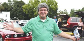 Avoca resident and PA State Rep. Michael Carroll walked along the route in celebration of the borough's sesquicentennial anniversary.                                  Tony Callaio | For Sunday Dispatch