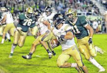 Southern Columbia running back Gavin Garcia had a strong game as a sophomore against Wyoming Area in 2019. He and the Tigers head to Wyoming Area on Friday for a battle of unbeatens.                                  Times Leader file photo