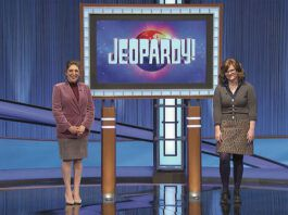 Holly Van Leuven, an editor originally from Pittston, will appear on JEOPARDY! this evening, according to a release from the game show.                                  Jeopardy Productions, Inc.
